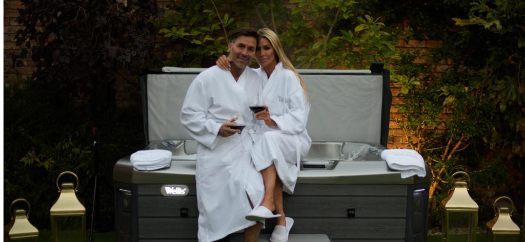 Dawn and Ashley ward with Hot tub